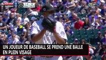 Un joueur de baseball se prend une balle en plein visage (vidéo)