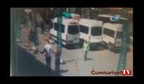 İstanbul'un göbeğinde kadına şiddetin görüntüleri