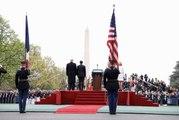 Discours du Président de la République Française, Emmanuel Macron lors de la cérémonie d'accueil à la Maison Blanche