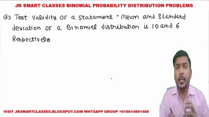 Binomial Distribution Lecture #6 How to Solve Binomial Probability Distribution Problems in Hindi