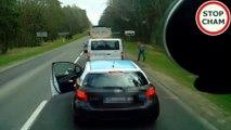 Ce conducteur balance ses dechets par la fenetre et va le regretter
