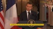 """""""Nous souhaitons travailler sur un nouvel accord avec l'Iran"""", annonce Emmanuel Macron aux côtés de Donald Trump"""