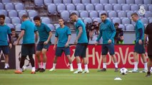 Última sesión de entrenamiento antes del partido contra el Bayern