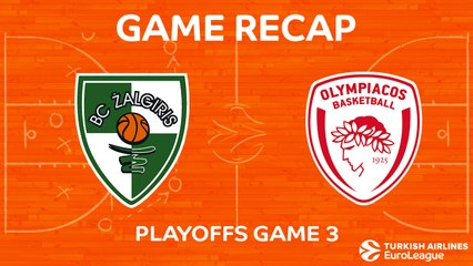 EuroLeague 2017-18 Highlights Playoffs Game 3: Zalgiris 80-60 Olympiacos