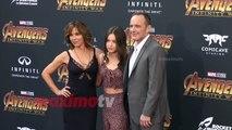"Jennifer Grey with her Family ""Avengers Infinity War"" World Premiere Purple Carpet"