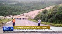 Se reportan más de 30 fallecidos tras terremoto de 7,5 grados