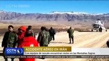 Los equipos de rescate encuentran restos en las Montañas Zagros