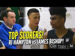 RJ Hampton vs James Bishop Duke watches UAA Top Scorers in D