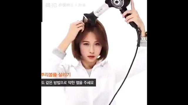 Cách đơn giản tự làm xoăn ngắn kiểu Hàn tại nhà