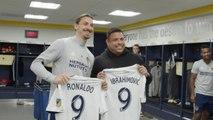 LA Galaxy - Ronaldo rend visite à Zlatan