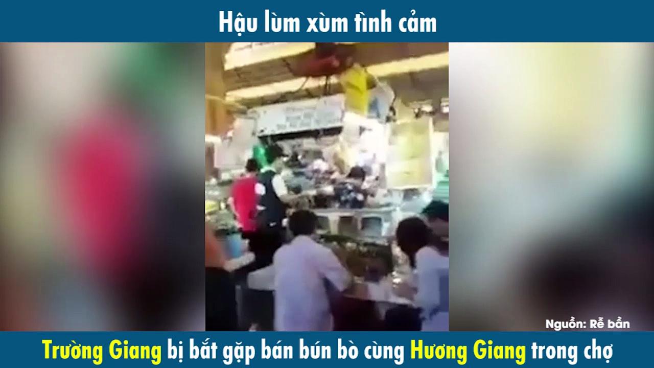 Hậu lùm xùm tình cảm, Trường Giang bị bắt gặp bán bún bò cùng Hương Giang trong chợ