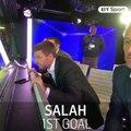 How Steven Gerrard reacted to Mohamed Salah's goals last night...    BT Sport