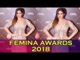 Zareen Khan पहुंची Nykaa Femina Beauty Awards 2018 Red Carpet पर