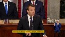 """""""L'Iran ne se rendra pas propriétaire d'arme nucléaire. Ni maintenant, ni dans cinq ans, ni dans vingt ans. Jamais"""", a assuré Emmanuel Macron. """"Nous ne devons pas être naïfs, mais nous ne devons pas non plus être à l'origine de nouvelles guerres"""""""