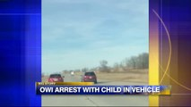 Video Shows Woman Being Pulled Over for Drunk Driving With Child on Her Lap