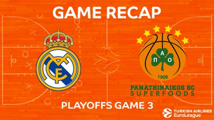 EuroLeague 2017-18 Highlights Playoffs Game 3 video: Madrid 81-74 Panathinaikos