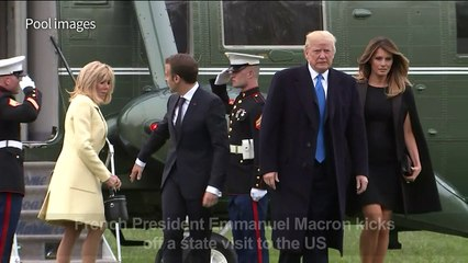 France's Macron on state visit to US