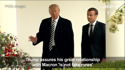 Trump hails his relationship with Macron