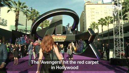 "Marvel team at ""Avengers: Infinity War' Hollywood premiere"