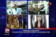 Miraflores: abogado de sujeto acusado de prender fuego a mujer se presenta en Depincri