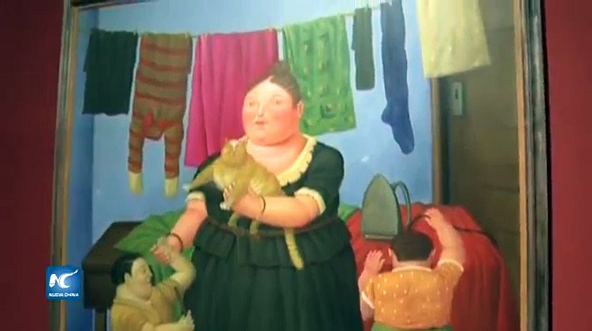 Exposición de artista colombiano Fernando Botero Angulo en Beijing
