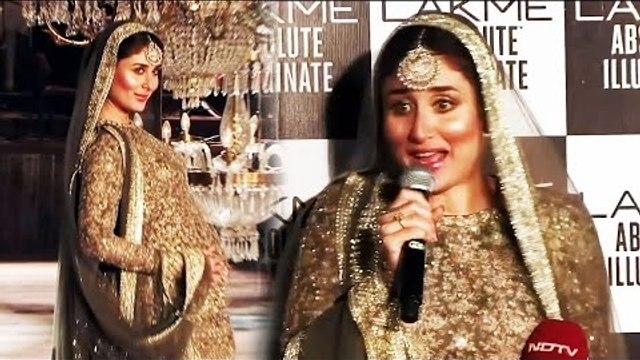 Pregnant Kareena Kapoor OPENS On Ramp Walk Wtih BABY BUMP