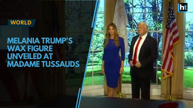 US first lady Melania Trump's wax figure unveiled at Madame Tussauds