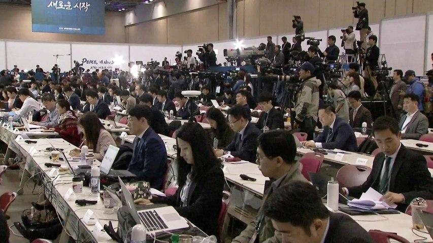 [남북정상회담] 전 세계 이목 집중...역대급 프레스센터 '후끈' / YTN