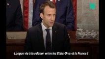 Les trois principales piques de Macron à Trump devant les élus américains