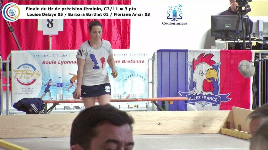 Finale du tir de précision féminin HD, France Tirs, Coulommiers 2018