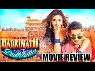 Badrinath Ki Dulhania Full Movie Review | Varun Dhawan, Alia Bhatt