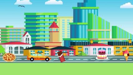 Мультик про машинки. Виды транспорта. Машинки Такси. Гонка Видео для детей