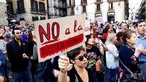 Concentració a la plaça Sant Jaume contra la sentència sobre 'La manada'