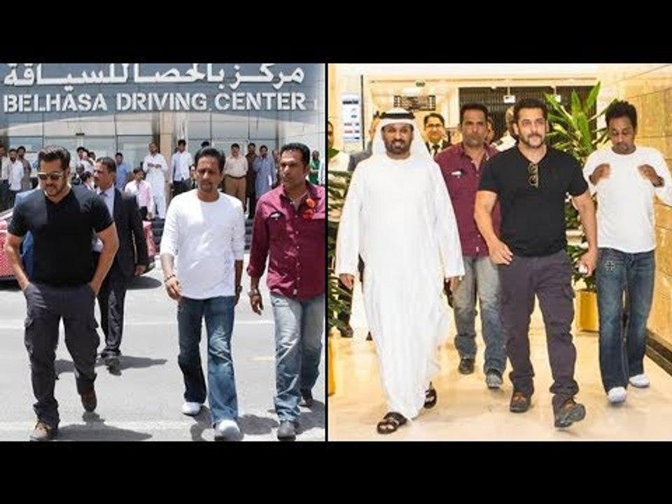 Salman Khan Spotted At Belhasa Driving Center Dubai Video