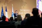 """Discours de clôture du Président de la République, Emmanuel Macron, à la conférence contre le financement du Terrorisme """"No Money For Terror"""""""