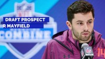 Draft Prospect Baker Mayfield Recreates Iconic Brett Favre Photo