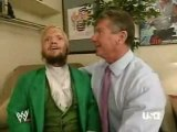 wwe raw Vince & Hornswoggle backstage  03/12/2007