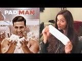 Deepika Padukone Poses With Sanitary Pad In PadMan Challenge