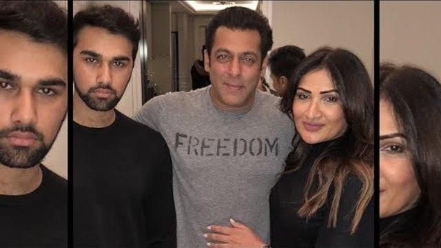 Salman Khan Celebrates 25 Years Of Splash Fashion With Kumod Raney & His Son