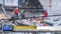 Más de 200 fallecidos por el sismo de 7,1 grados del martes