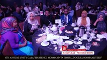 Dalmar Yare oo la siiyey abaal marin 5th Annual UNITY GALA, Blacktie & Award Ceremony