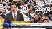Cientos de manifestantes protestan contra el gobierno de Mariano Rajoy