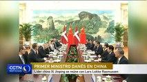Líder chino Xi Jinping se reúne con Lars Lokke Rasmussen