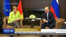 Putin y Merkel dialogan sobre Siria, Ucrania y la Unión Europea