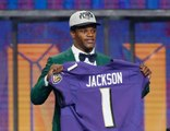 Lamar Jackson drafted No. 32 by the Baltimore Ravens