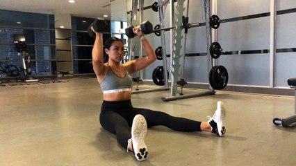 Jennifer Lau Arms Workout Dumbbell Z-Press