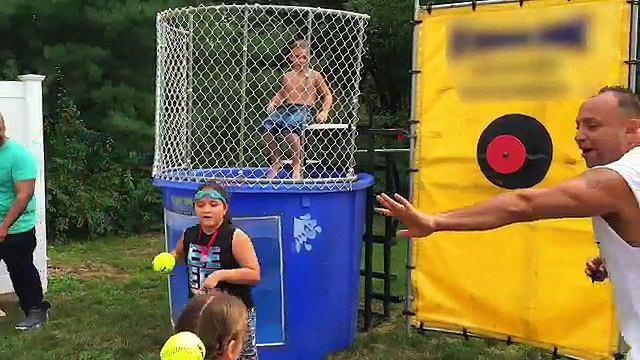 Emma Gets Dunked in the Tank | Why Emma Cried | Boys versus Girls Dunk Tank Challenge