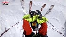 Ski : le drôle de moyen de transport d'un freerider dans les Alpes (vidéo)