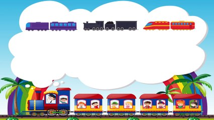 Learn Trains with Danny Dinosaur Cartoons - Funny Surprises for Kids Toddlers