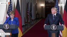 In Press Conference With Angela Merkel, Trump Calls On NATO Allies To Boost Spending